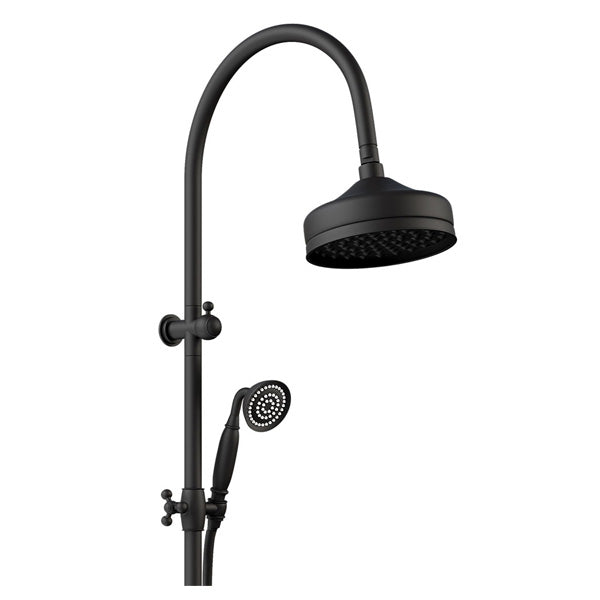 LILLIAN Multifunction Rail Shower, Matte Black