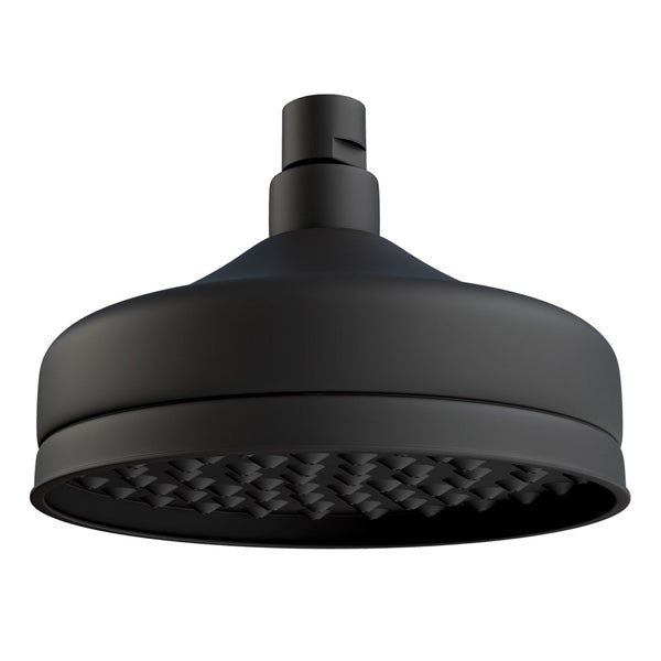 LILLIAN Rain Shower Head, Matte Black
