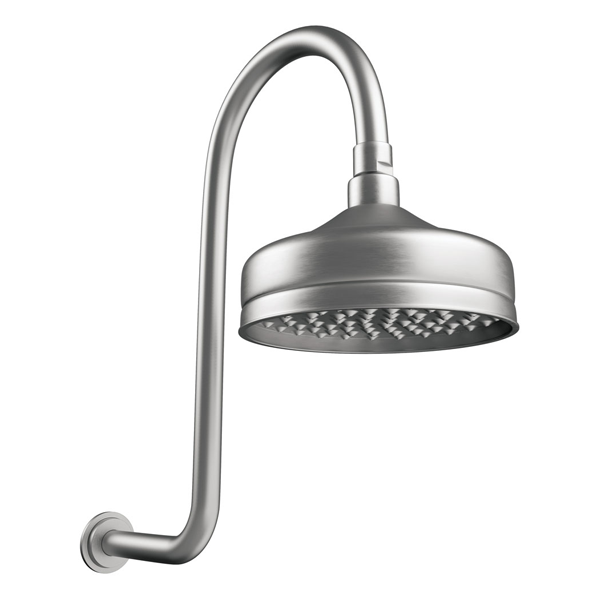 LILLIAN Wall Arm Shower Set Brushed Nickel