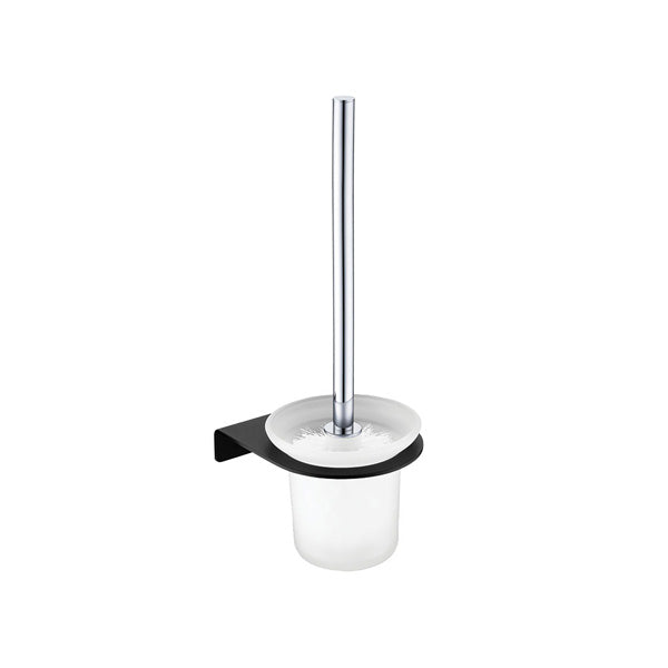 LINCOLN Mixed Finish Toilet Brush & Holder