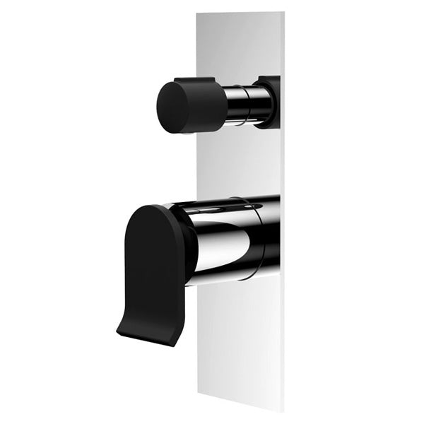 LINCOLN Wall Mixer Diverter, Mixed Finish