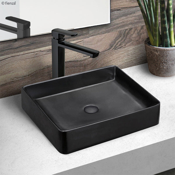 LUCIANA Matte Black Above Counter Basin