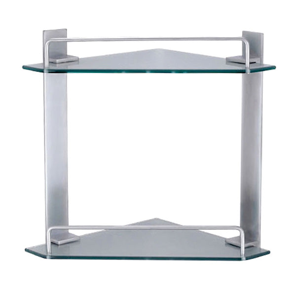MODENA Glass Corner Shelf, Double 250