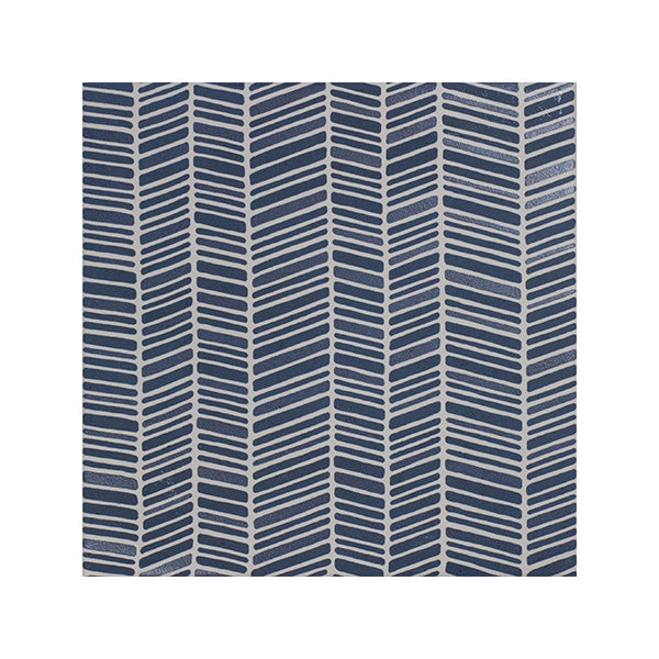 150x150mm Aquarel Navy Blue Dec Chevron Matt