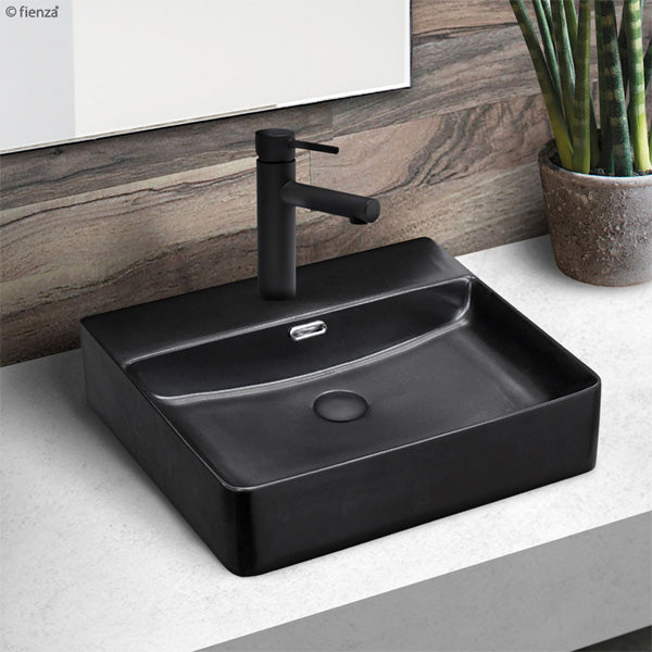 PETRA Matte Black Above Counter Basin