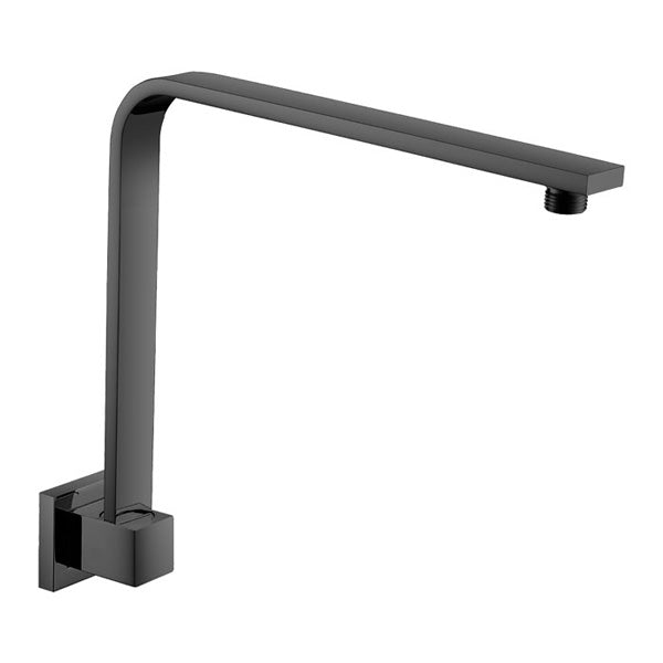 SQUARE Matte Black Fixed Gooseneck Arm