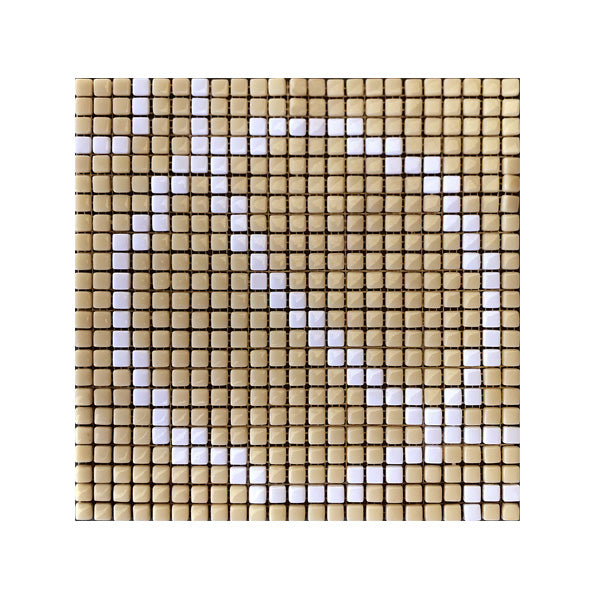 300x300mm Yellow Mosaic Circles