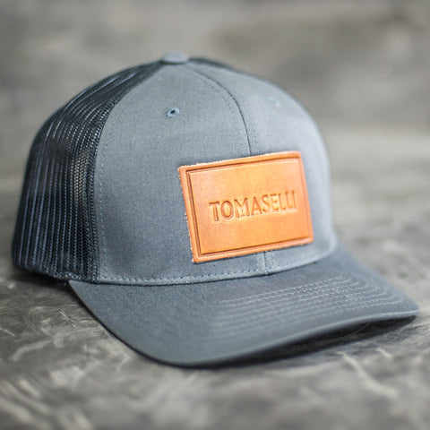Custom Leather Patch Trucker Hat