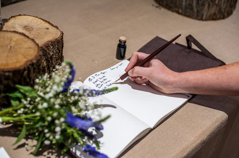 Custom Leather Guest Book - Ox & Pine Wedding Ideas