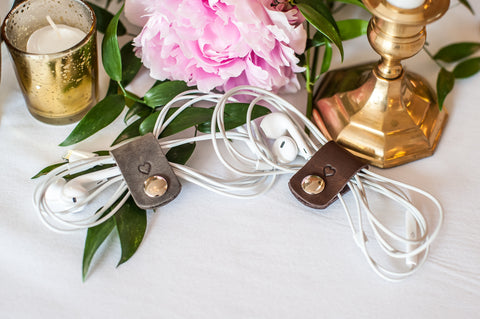 Personalized Leather Cord Wrap Wedding Favors - Ox & Pine Wedding Ideas