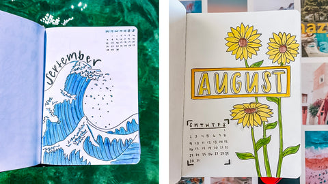 Bullet Journaling - Month Inspiration