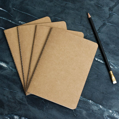 Kraft Notebook Refills for Refillable Leather Journals