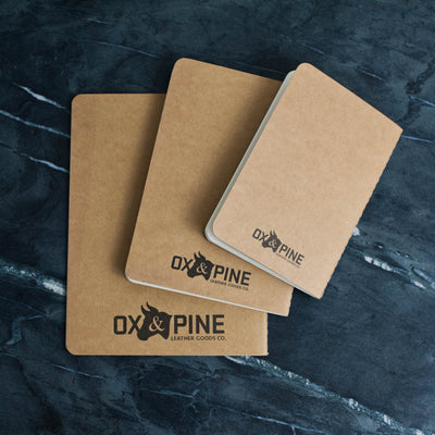 Personalized Refillable Wrap Leather Journal - Notebooks - Ox & Pine