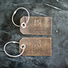 Personalized Mr and Mrs Leather Luggage Tags - Rustic Brown - Last Name Added - Wedding Gift, Couple Gift, Anniversary Gift - Ox & Pine