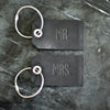 Set of Personalized Mr and Mrs Leather Luggage Tags - Black - Wedding Gift, Couple Gift, Anniversary Gift - Ox & Pine