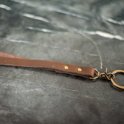 Personalized Premium Leather Lanyards - Dark Brown - Ox & Pine