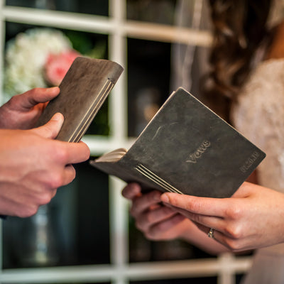 Wedding Vow Book Pocket Notebook Personalized - Ox & Pine Leather Goods