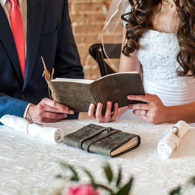 Weddings - Personalized Leather Journal