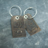 Weddings - Set of Mr. and Mrs. Design Stamped Leather Luggage Tags