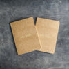 Personalized Kraft Paper Vow Books - Set of 2 - Gold Foil Stamped Wedding Date or First Names - Journal Insert Refills