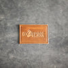 Rectangle Light Brown Leather Patch - Ox & Pine Leather Goods Logo - Customize with your logo