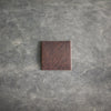 Square Leather Patches with Logo, Image, or Text - Dark or Light Brown Leather - Ox & Pine Leather Goods