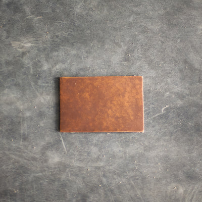 Rectangle Leather Patches with Logo, Image, or Text - Dark or Light Brown Leather - Ox & Pine Leather Goods