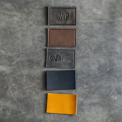 Custom Leather Patches - Personalized with Logo, Text, or Initials - Blank Leather Patches