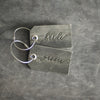 Set of Bride and Groom Stamped Leather Luggage Tags