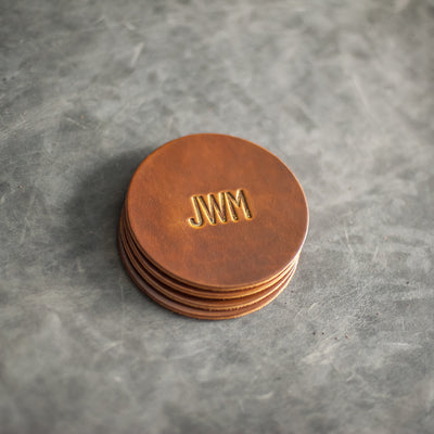 Leather Coasters from Ox & Pine Leather Goods