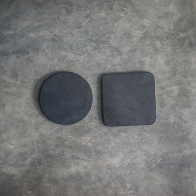 Bride and Groom Leather Coasters - Set of 4
