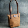 Perfectly Imperfect Personalized Leather Zipper Closure Tote Bag
