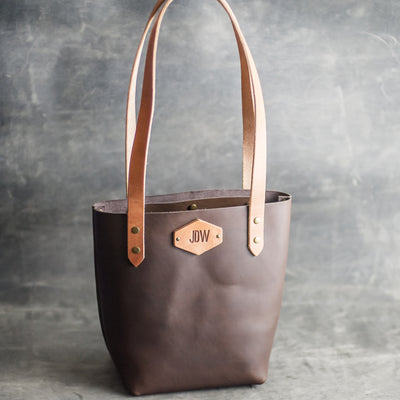 Personalized Leather Tote Bag - Classic (No Closure)