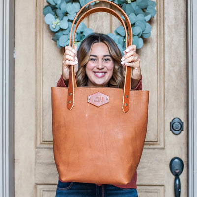 Perfectly Imperfect Personalized Leather Classic Tote Bag