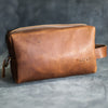 Perfectly Imperfect Personalized Leather Dopp Kit
