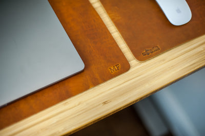 Leather Desk Mat - Limited Edition Colors