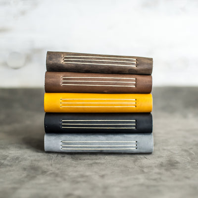 Classic Personalized Leather Pocket Journal