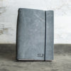 Refillable Personalized Leather Journal with Professional Elastic Closure
