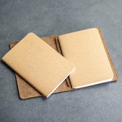 Kraft Notebook Refills for Refillable Leather POCKET Journals