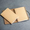 Refillable Personalized Leather Pocket Journal with Professional Elastic Closure