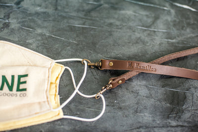 Personalized Premium Leather Face Mask Lanyard
