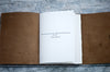Personalized Custom Title Page for Sewn-in Leather Journal - Ox & Pine