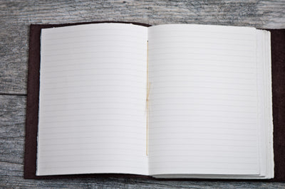 Lined Paper for Sewn-in Leather Journal - Ox & Pine Leather Goods