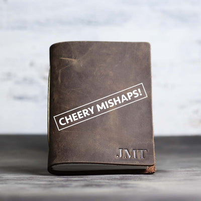 Cheery Mishaps - Classic Personalized Leather Pocket Journal