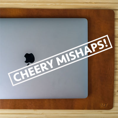 Cheery Mishaps - Leather Desk Mat