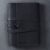 Personalized Refillable Wrap Leather Journal - Black - Ox & Pine