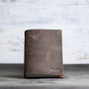 Personalized Leather Pocket Notebook Journal - Rustic Brown - Ox & Pine