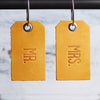 Mr and Mrs Leather Luggage Tags - Saddle Tan - Wedding Gift, Couple Gift, Anniversary Gift - Ox & Pine