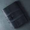 Personalized Leather Wrap Journal - Black - Ox & Pine