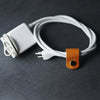 Personalized Leather Cord Wrap for Laptop Charger - Ox & Pine - Saddle Tan